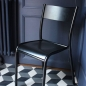 Preview: Original Stuhl La Chaise 510 Farbe Schwarz Made in France