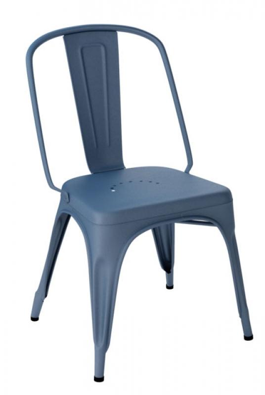Tolix Stuhl leconnaisseur tolix chaise ac blau ral 5015