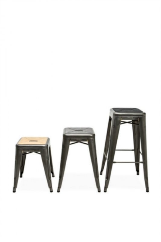 tolix sitzauflage f r hocker aus alcantara. Black Bedroom Furniture Sets. Home Design Ideas