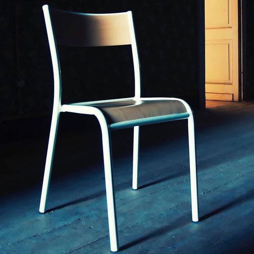Original Stuhl La Chaise 510 Farbe Weiss