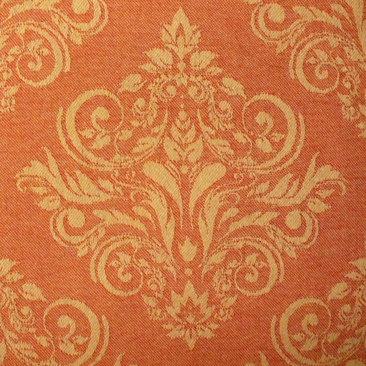 tischdecke jacquard orange fuschia 160x160cm 100 baumwolle. Black Bedroom Furniture Sets. Home Design Ideas